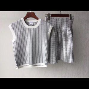 NWOT Club Monaco Knitted Twin Set